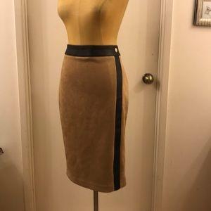 💥Ivanka Trump💥 Suede Leather Vegan Pencil Skirt